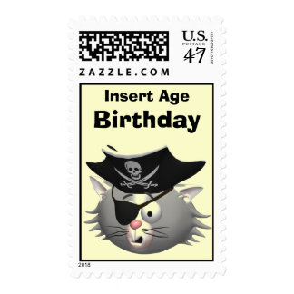 Cat Birthday Postage Stamps