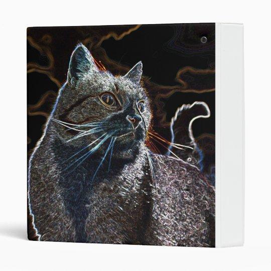 Cat black 3 ring binder