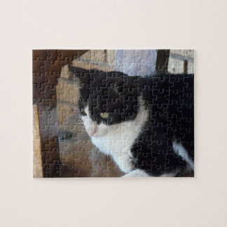 Cat-Black and White Jigsaw Puzzle