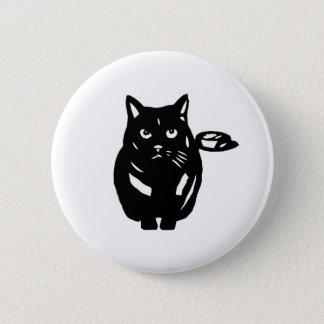 Cat black cat cat BLACK CAT cutting picture Button