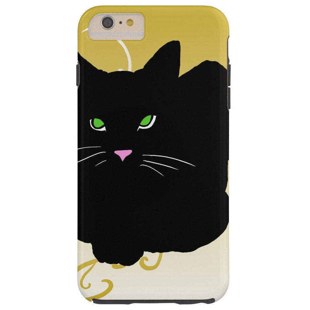 Cat Black Cats Trendy Gold Fashion CricketDiane Tough iPhone 6 Plus Case