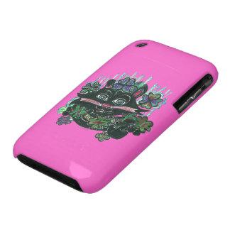 CAT Black in Misty Clover Case-Mate iPhone 3 Case