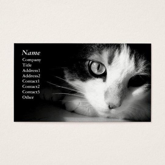 Cat black&white - Business cards