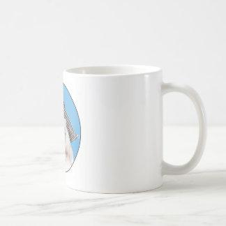 cat black white hat coffee mugs