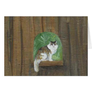 Cat Blank Note Card