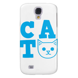 CAT blue Galaxy S4 Case
