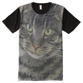 Cat Boat Tabby Face Photo T-Shirt