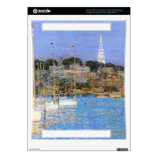 Cat Boats, Newport by Childe Hassam Xbox 360 Console Decals