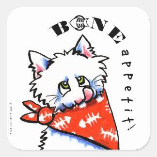 Cat Bone Appetit! Pet Gourmet Specialty White Stickers