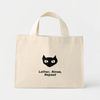 Cat Boo Lather Rinse Repeat Canvas Bags