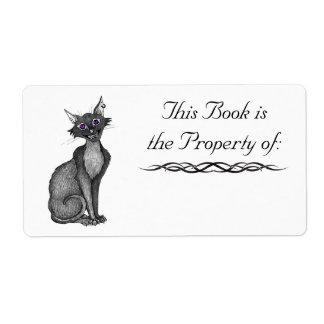 Cat Book Label