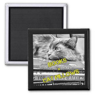 Cat bookish magnet