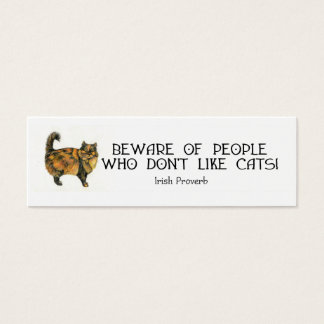 Cat Bookmark Mini Business Card