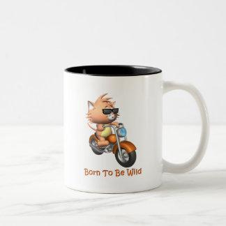 Cat - Born To Be Wild Two-Tone Coffee Mug