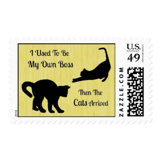 Cat Boss Postage Stamps