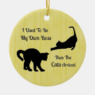 Cat Boss Round Ornament