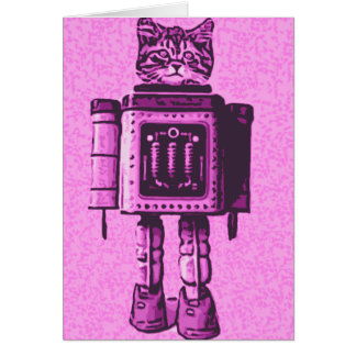 Cat Bot 3000 Greeting Cards