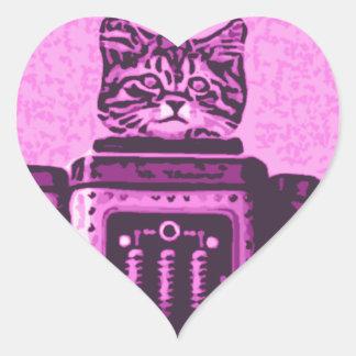 Cat Bot 3000 Heart Correct Heart Sticker