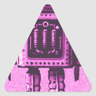 Cat Bot 3000 Triangle Sticker
