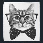 "cat bow tie - Glasses cat - glass cat Bandana<br><div class=""desc"">pet , cat , &quot;cute cats&quot; , &quot;tabby cat&quot; , kitty , &quot;black and white cat&quot; , &quot;hipster cat&quot; , &quot;cat lovers&quot; , &quot;pet cat&quot; , &quot;cat  tie&quot; , </div>"