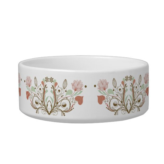 CAT BOWL: Abstract Flowers 6D Bowl
