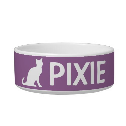 Cat bowls with custom pet name and color
