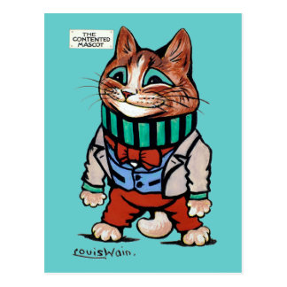 Cat boy, Louis Wain Postcard
