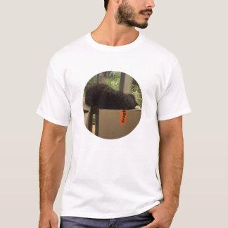 Cat 'Bram' sleeping on boxes T-Shirt