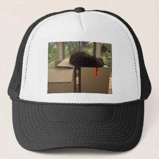Cat 'Bram' sleeping on boxes Trucker Hat