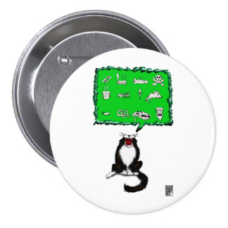cat breath! pinback button