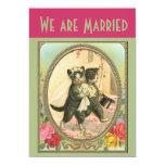 "Cat Bride and Groom Wedding Announcement 5"" X 7"" Invitation Card"