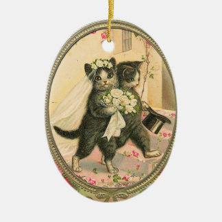 Cat Bride and Groom Wedding Day ornament
