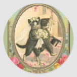 Cat Bride and Groom Wedding Day Stickers