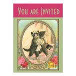 Cat Bride and Groom Wedding Invitation