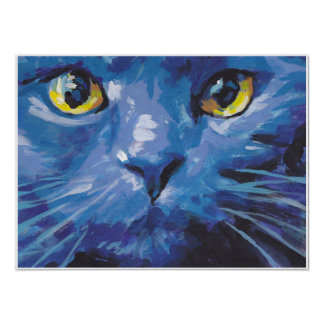 cat  bright colorful Pop Art Poster