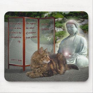 Cat-Buddha nature Mouse Pad