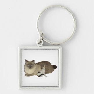 Cat Buddies Keychain
