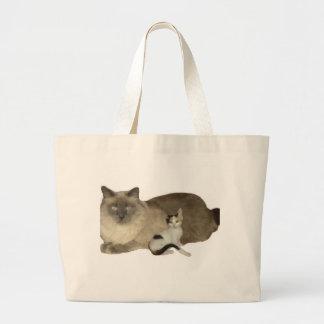 Cat Buddies Large Tote Bag