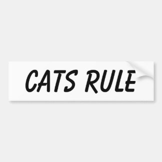Cat bumper sticker