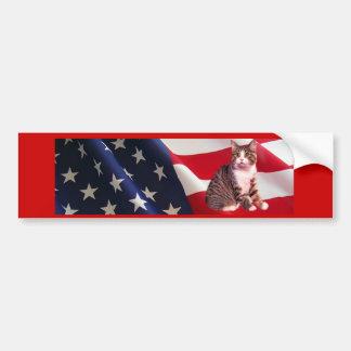 Cat Bumper Sticker All American