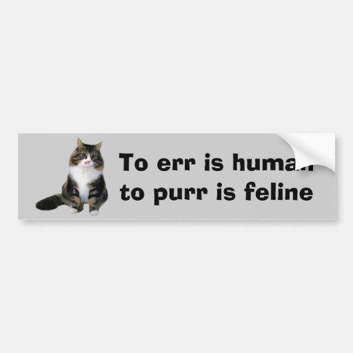 Cat Bumper Sticker Car Bumper Sticker