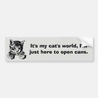 Cat Bumper Sticker Purrfection Car Bumper Sticker