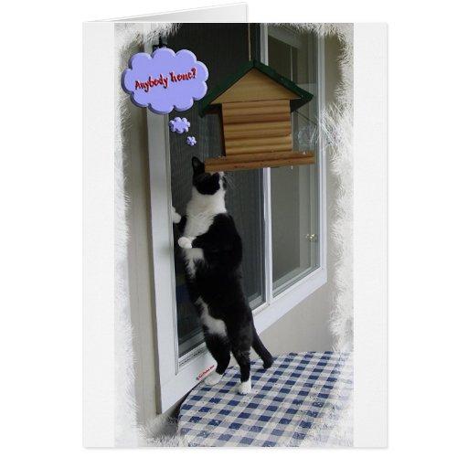 Cat Burglar Greeting Card