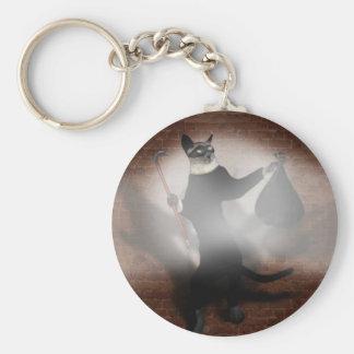 Cat Burglar Basic Round Button Keychain