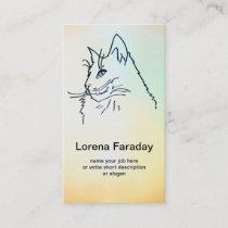 cat business card