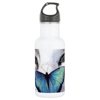 cat but stainless steel water bottle