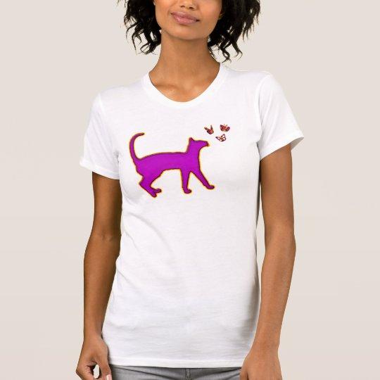 CAT & BUTTERFLIES T-Shirt