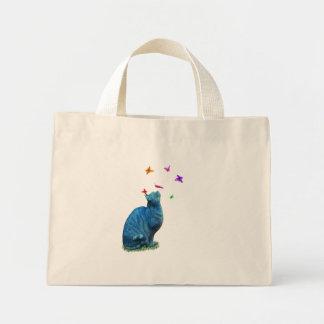 Cat & Butterflies Tote Bag