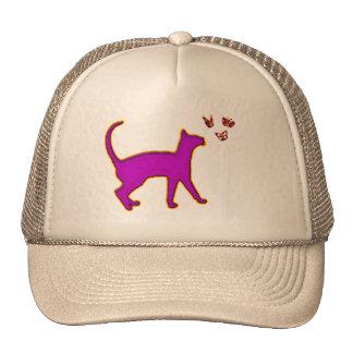 CAT & BUTTERFLIES TRUCKER HAT