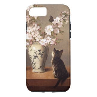 Cat, Butterfly, and Vase of Flowers iPhone 7 Case